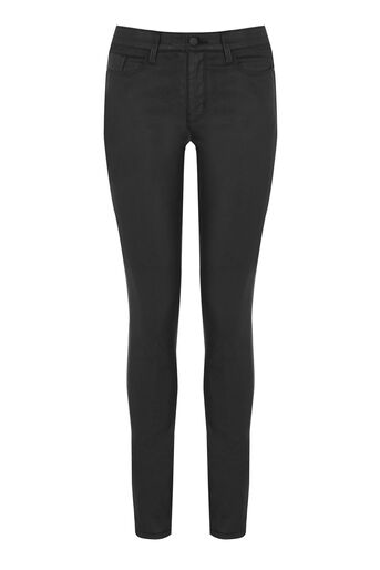 Warehouse, The Coated Skinny Cut Black 0