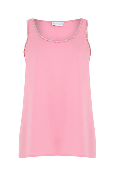Warehouse, EMBELLISHED VEST Light Pink 0