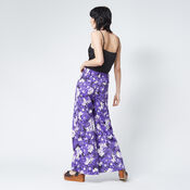 Warehouse, ASTER FLORAL TROUSERS Purple Pattern 3