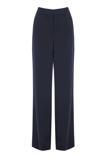 Warehouse, STRIPE SIDE TROUSERS Navy 0