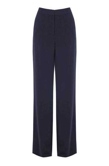 Warehouse, STRIPE SIDE TROUSER Navy 0