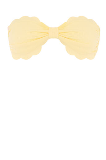 Warehouse, SCALLOP EDGE BIKINI TOP Lemon 0