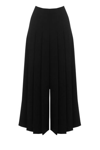 Warehouse, PLEATED CULOTTES Black 0