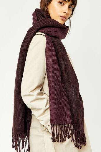 Warehouse, REVERSIBLE SCARF Berry 0