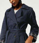 Warehouse, Check Lined Trench Navy 4