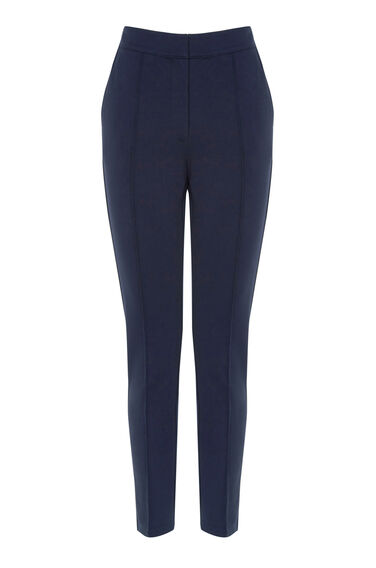 Warehouse, PONTE TROUSER Navy 0