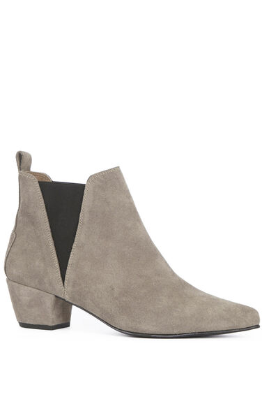 Warehouse, Suede Ankle Boot Choc 0