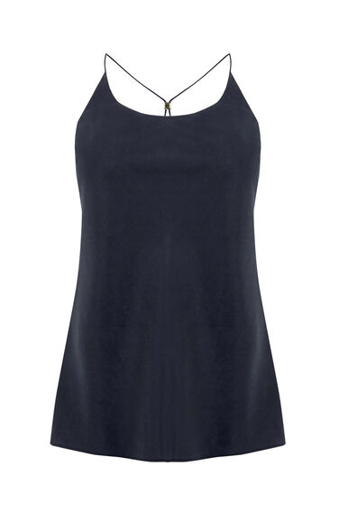 Warehouse, CROSS BACK CAMI TOP Navy 0