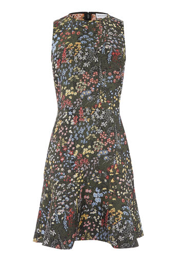 Warehouse, WILD GARDEN JACQUARD DRESS Multi 0