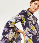 Warehouse, ORCHID FLARED CUFF DRESS Purple Pattern 4