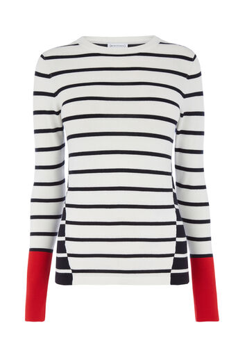 Warehouse, COLOURBLOCK STRIPE JUMPER Multi 0