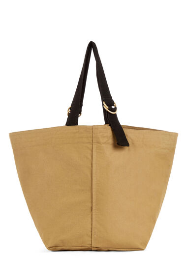 Warehouse, D RING CANVAS TOTE BAG Camel 0