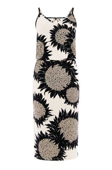 Warehouse, SUNFLOWER PRINT CAMI DRESS Neutral  Print 0