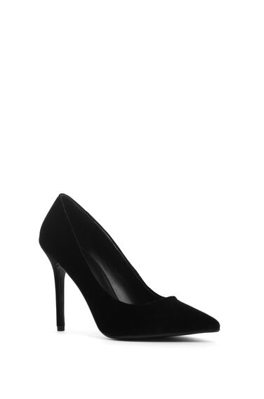 Warehouse, POINTY HEELED COURT SHOE Black 0