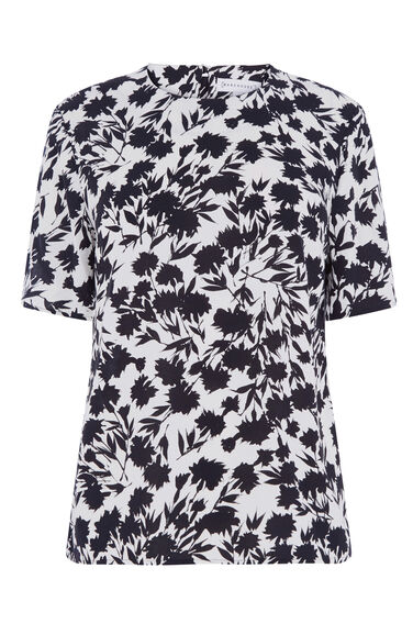 Warehouse, BRUSHED FLORAL T-SHIRT Neutral  Print 0