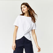 Warehouse, KNOT FRONT TEE White 1