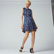 Warehouse, CONFETTI SPOT DRESS Blue Pattern 2
