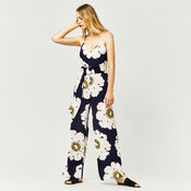 Warehouse, MELODY FLORAL JUMPSUIT Blue Pattern 2