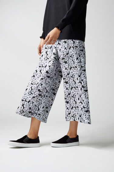 Warehouse, DAISY PRINT WIDE LEG TROUSERS Multi 1