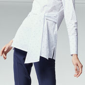 Warehouse, DOBBY TIE FRONT TUNIC White 4