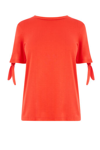 Warehouse, TIE SLEEVE TEE Bright Red 0