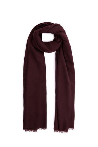 Warehouse, LARGE WRAP SCARF Berry 0
