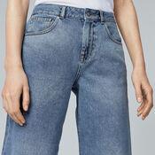 Warehouse, Wide Cut Jeans Mid Wash Denim 4