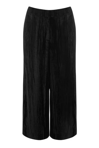 Warehouse, CRUSHED VELVET CULOTTES Black 0
