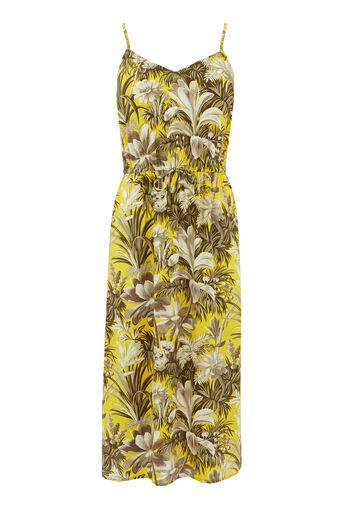 Warehouse, AMAZON PRINT DRESS Yellow 0