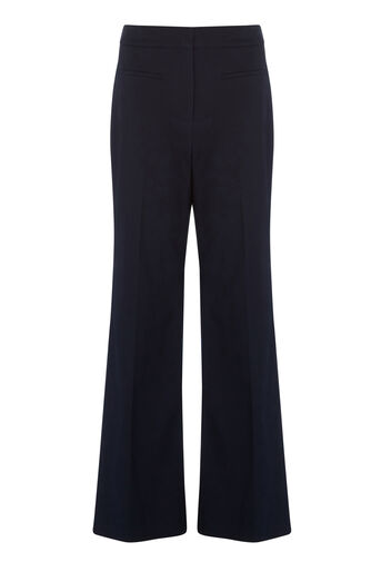 Warehouse, TWIN POCKET WIDE LEG TROUSERS Navy 0