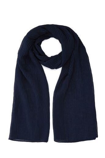 Warehouse, PLEATED LIGHTWEIGHT SCARF Navy 0