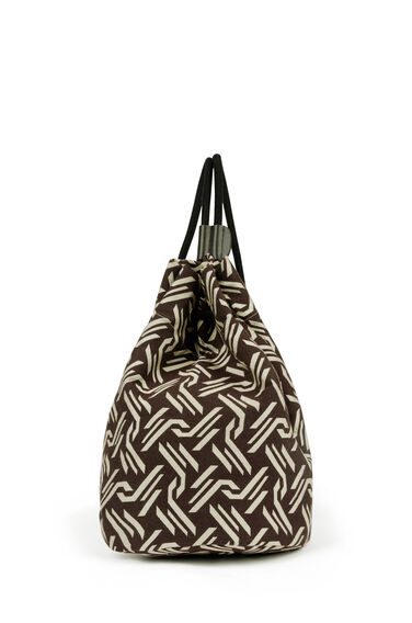 Warehouse, Monogram Jacquard Duffle Bag Multi 0