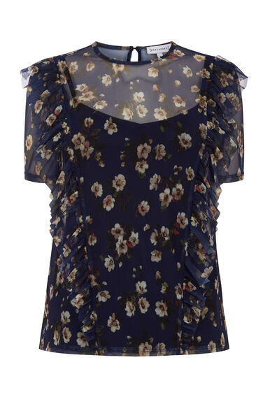 Warehouse, MAE FLORAL MESH TOP Multi 0
