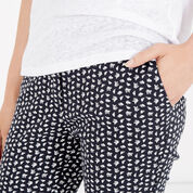 Warehouse, SQUIGGLE PRINT TROUSERS Navy 4