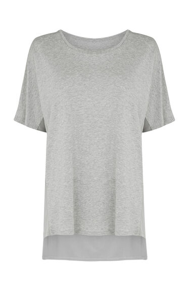 Warehouse, CUPRO MIX OVERSIZED TEE Light Grey 0