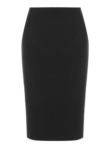 Warehouse, PINSPOT PENCIL SKIRT Black 0