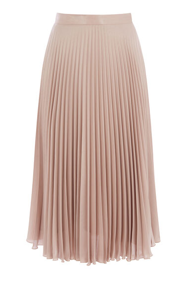 Warehouse, FOIL PLEATED SKIRT Mink 0
