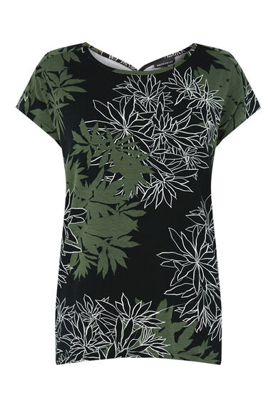 Warehouse, SHADOW LEAF FLORAL TOP Multi 0