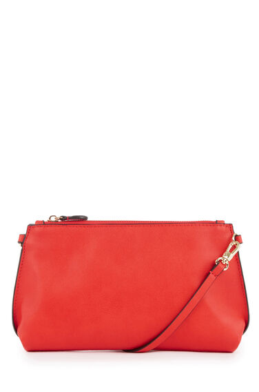 Warehouse, Bonded Slim Crossbody Bag Bright Red 0