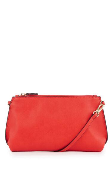 Warehouse, Bonded Slim Crossbody Bag Bright Red 0