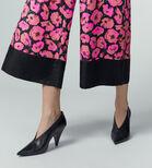 Warehouse, POPPY PRINT SILK TROUSER Pink Pattern 4
