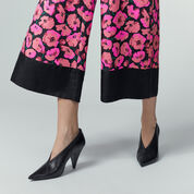 Warehouse, POPPY PRINT SILK TROUSER Pink Pattern 4