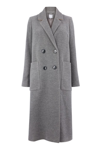 Warehouse, Silk Mix Long Line Crombie Dark Grey 0