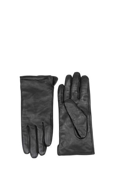 Warehouse, LEATHER GLOVES Black 0