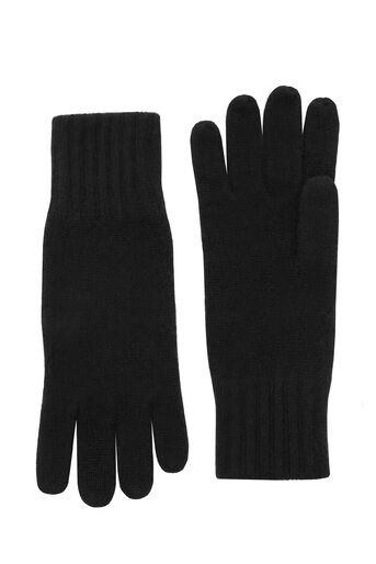 Warehouse, CASHMERE GLOVES Black 0