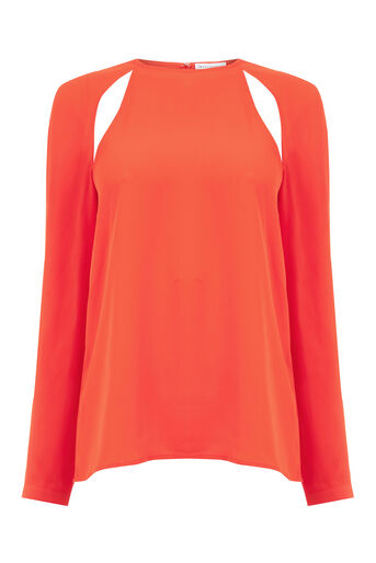 Warehouse, CUT OUT TOP Bright Red 0