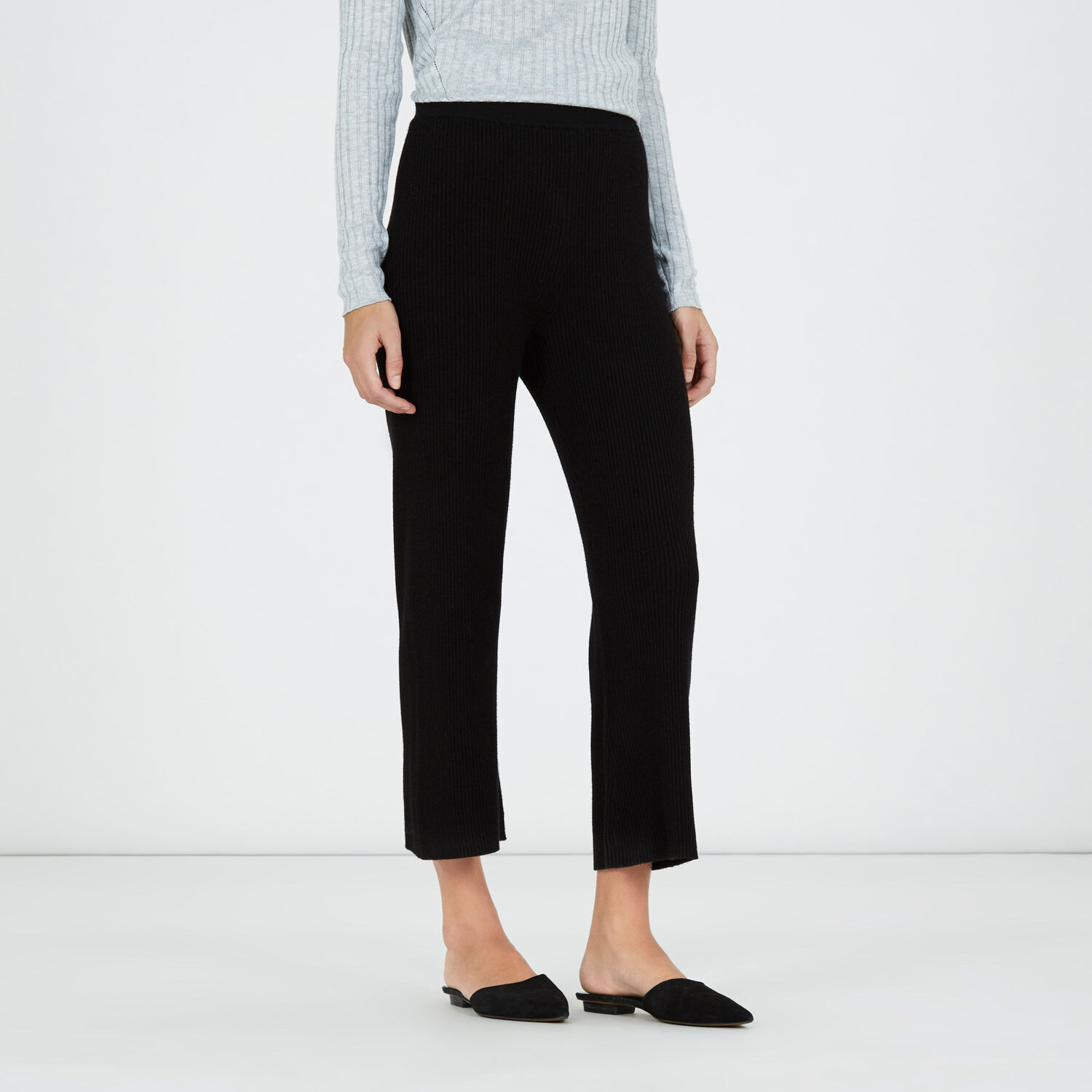 Warehouse, RIBBED TROUSERS Black 1