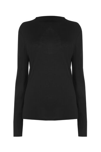 Warehouse, GROWN ON NECK TOP Black 0