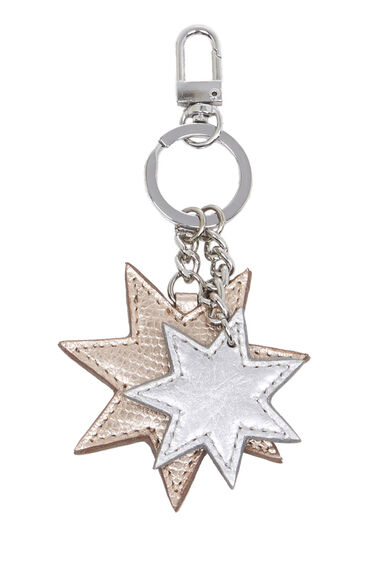 Warehouse, Leather Star Keyring Copper Colour 0