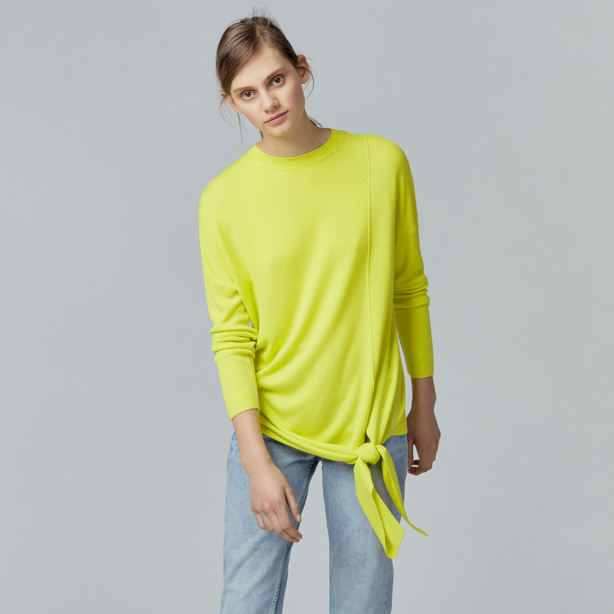 Warehouse, TIE FRONT JUMPER Yellow 1